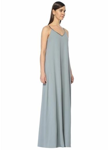Fabiana Filippi Askılı Uzun Elbise Mavi
